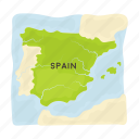 country, culture, map, sightseeing, spain, territory, travel icon