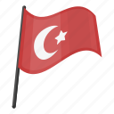 attractions, flag, national, traditions, travel, turkey