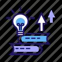courses, education, growth, personal, self-development, skill, training icon