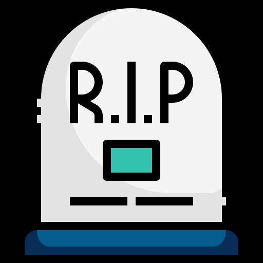 death, death count, grave, halloween, mortality, rip icon