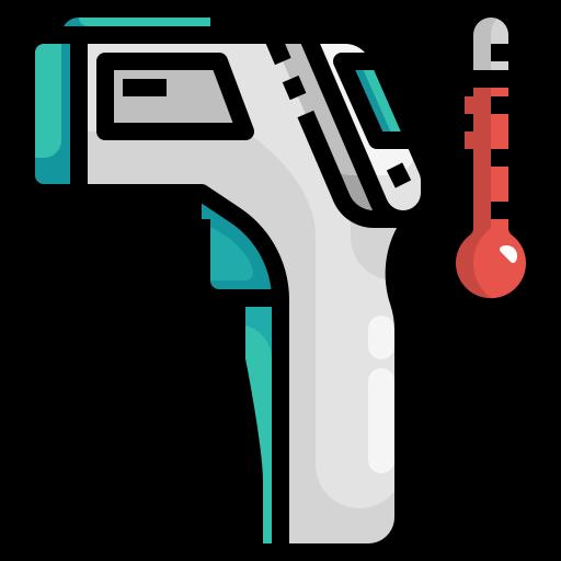 coronavirus, hot, infrared, temperature, thermometer icon