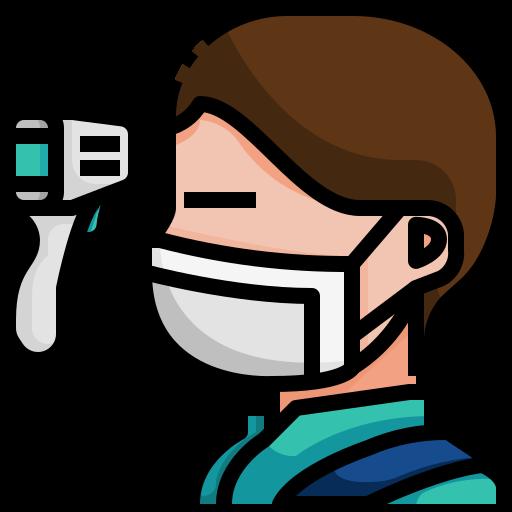Avatar, fever, healthcare, man, measure, sick, coronavirus icon - Free download