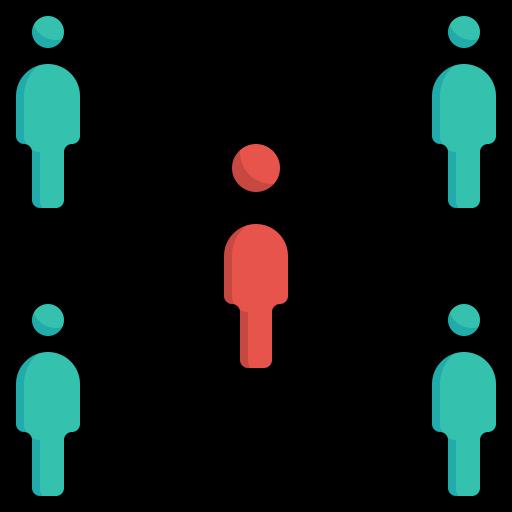 connection, coronavirus, network, people, sharing, social, spreading icon