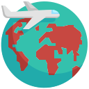 airplane, earth, global, globe, trave, vacation, world icon
