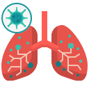 anatomy, coronavirus, covid19, lung, medical, organ icon