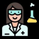 avatar, researcher, scientist, virus, women icon
