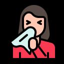 avatar, sick, sneeze, virus, woman icon