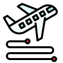 plane, route, transport, travel, vehicle, virus, way icon