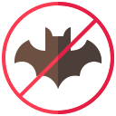 bat, corona, coronavirus, no bat, virus icon