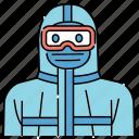 hazmat, suit, civid, biohazard, protective