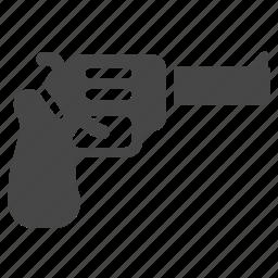 cowboy, gun, gunman, military, pistol, revolver, weapon icon