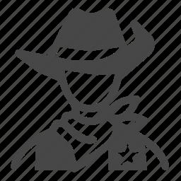 american, cowboy, police, sheriff, texas, western, wild wild west icon