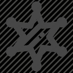 award, badge, leader, medal, officer, sheriff, star icon