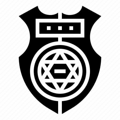 badge, cop, cowboy, insignia, star icon