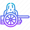 cart, west, wheel, wild icon