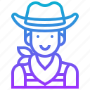 avatar, cowboy, human, male, man icon