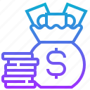 bag, coin, currency, dollar, money icon