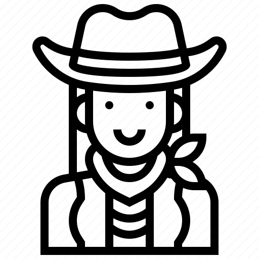 avatar, cowgirl, female, human, woman icon