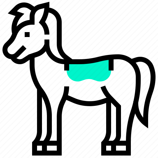 animal, equestrian, horse, mammal, west, wild icon