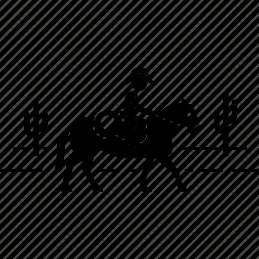 cowboy, horse, ridding, west, western, wild, wrangler icon