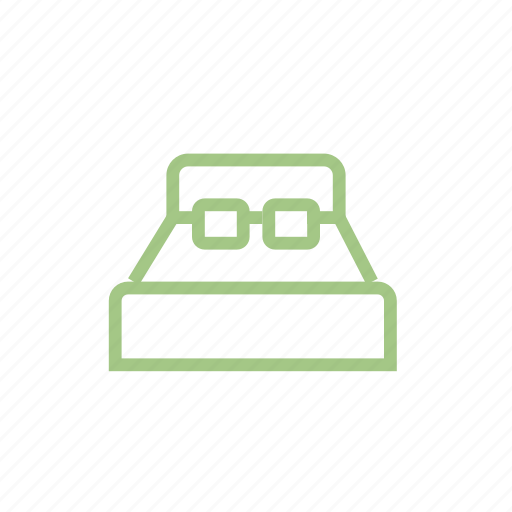 apartment, bed, bedroom, double, hotel, rest, sleep icon