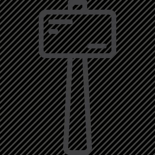 hammer, mallet, wooden icon