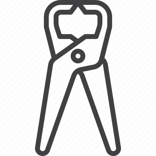 pincers, pliers, tongs, tool icon