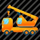 business, car, crane, frame, truck