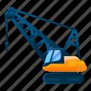 business, car, cat, crane, excavator