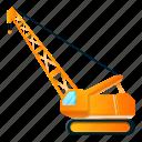 business, car, crane, excavator, house, modern