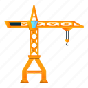 business, car, construction, crane, frame, yellow