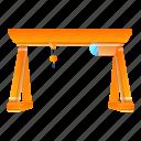 business, crane, frame, port, water, yellow