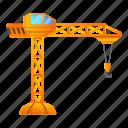 car, construction, crane, frame, orange