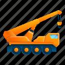 business, car, vehicle, computer, crane, construction