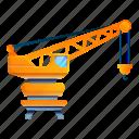 business, crane, port, ship, water
