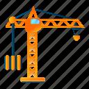 business, construction, crane, frame, sky