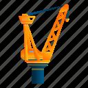 business, crane, modern, port, water