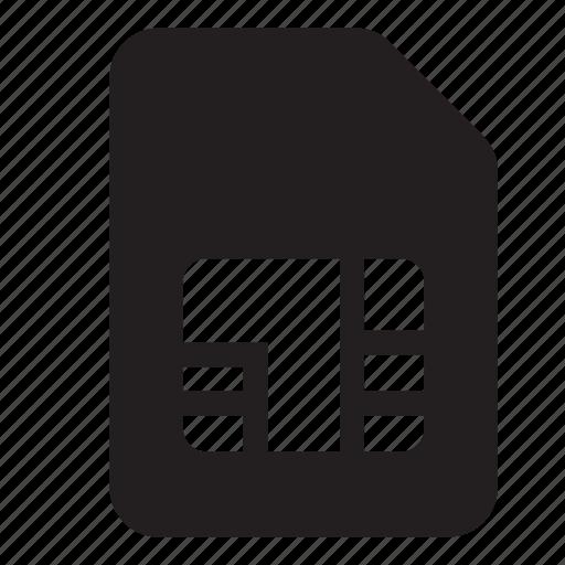 card, grid, micro sim, microsim, project, sim, sim card icon