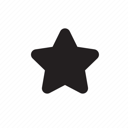 grid, project, ronded, soft, star icon