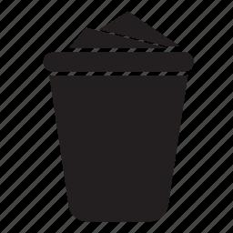bin, drink, grid, project, rubbish, trush icon