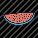 watermelon, melon, watermelon slice, summer, beach, fruit, food