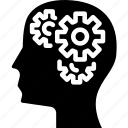 gear, intelligence, knowledge, mind, thinking, thoughts icon