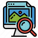 find, reference, research, search icon