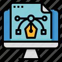 art, digital, file, vector icon