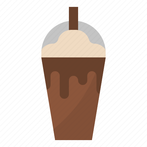 beverages, chocolate, drink, iced icon
