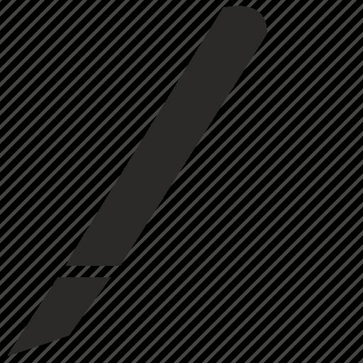 creative, cut, instrument, knife, plastic icon