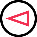 abstract, back, cone, left icon