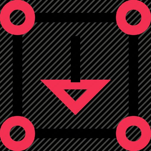 arrow, donw, point icon