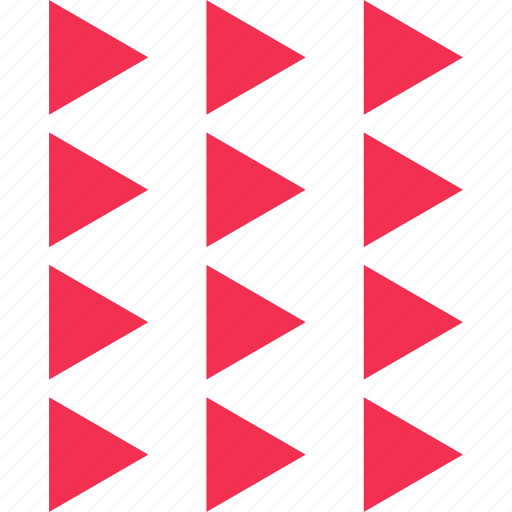 assorted, many, triangles icon