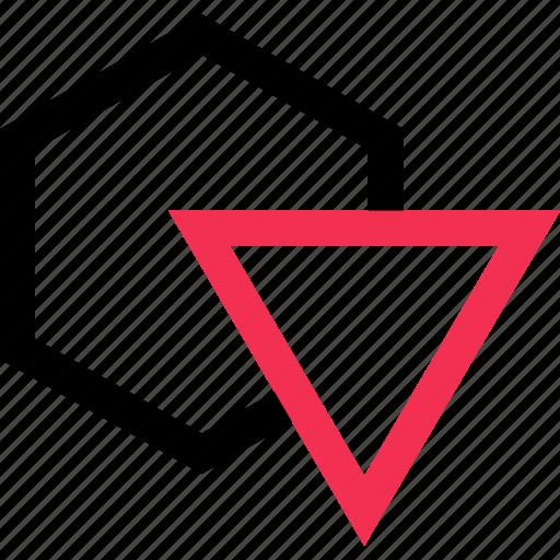 creative, fun, triangle icon